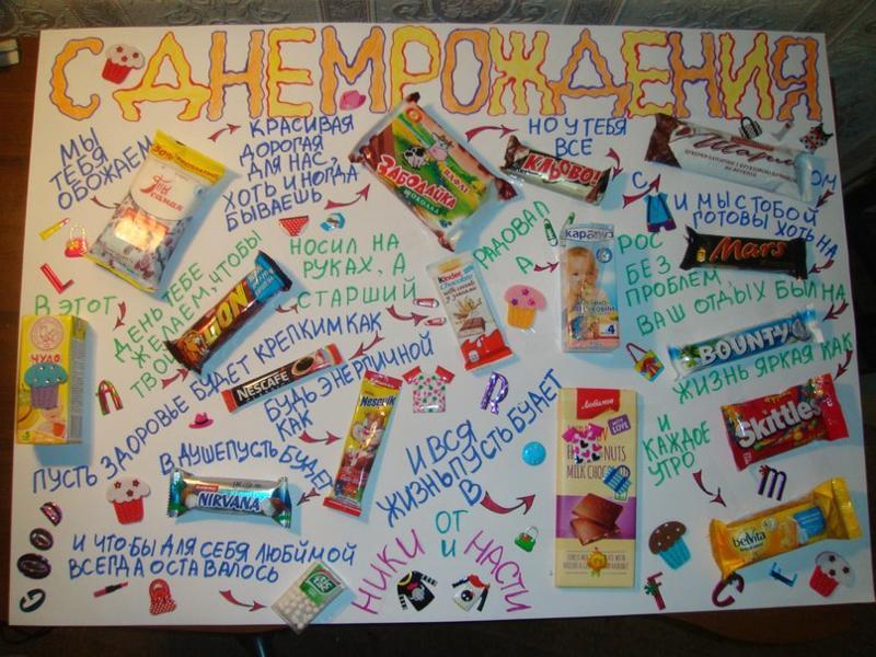 Открытки с надписями и шоколадками, надпись картинки