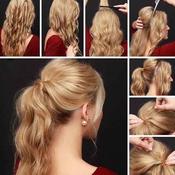 Небрежно взъерошьте волосы руками, собрав их на бок, и закрепите результат средством для укладки.
