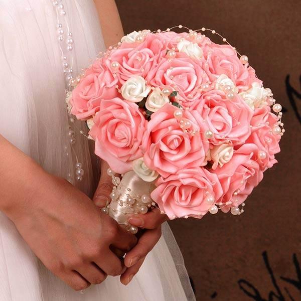 Большие букет для невесты своими руками из роз, оформление букетов